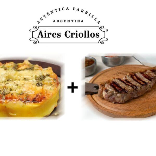 Provoleta especial+ Bife de Chorizo u Ojo de bife con guarnición